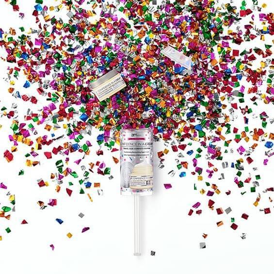 Confidence in a Cream Moisturizer Travel Size Confetti Popper