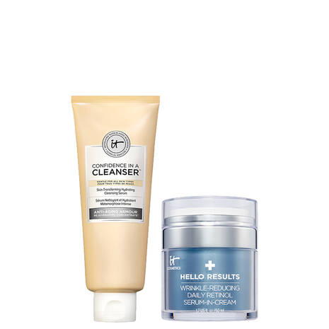Hello Results & Confidence in a Cleanser Anti-Aging Duo